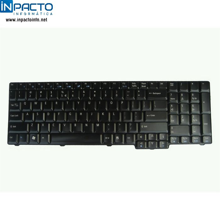 TECLADO NOTEBOOK HP DV4000  PADRÃO US PTO - In-Pacto Informática