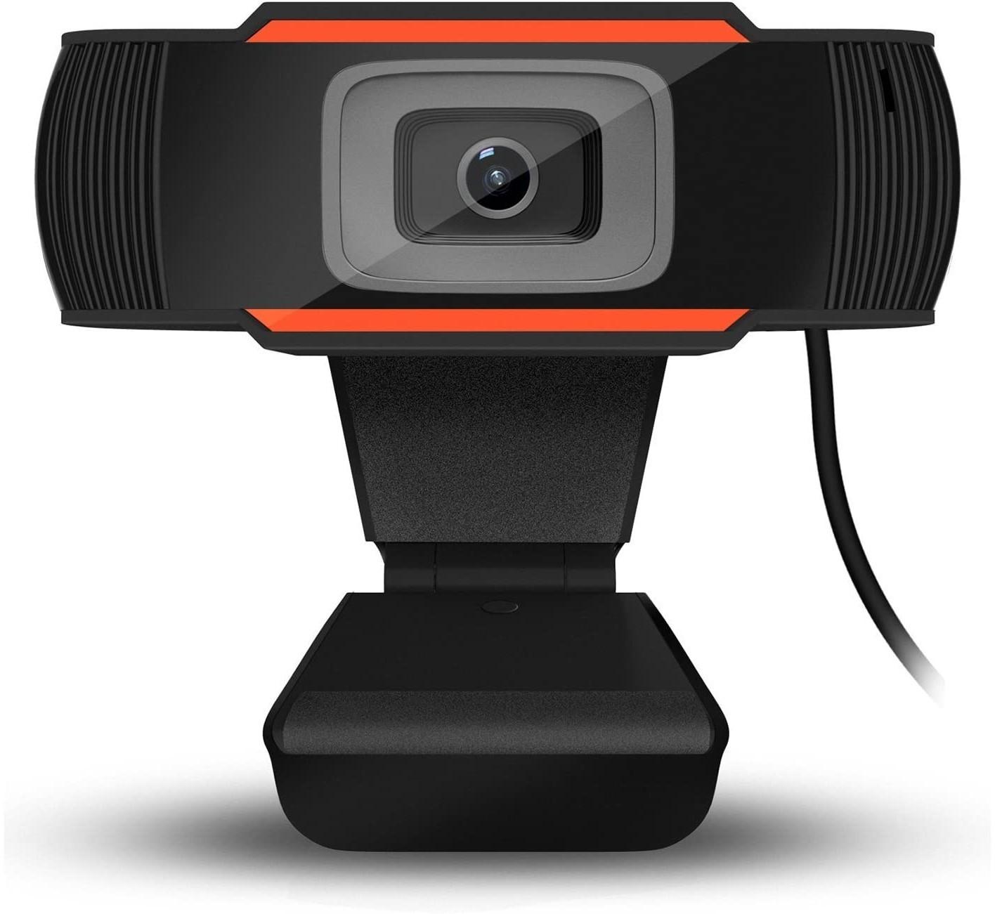 WEBCAM HD 720P COM MICROFONE PRETO/LARANJA - In-Pacto Informática