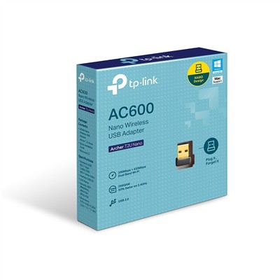 WIRELESS TP-LINK ADAPTADOR ARCHER T2U NANO AC600 DUAL BAND - In-Pacto Informática
