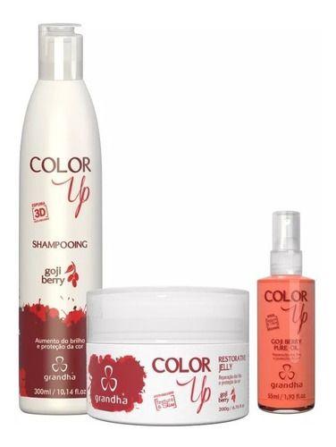 Grandha Kit Color Up Goji Berry Home Care Cabelos Coloridos
