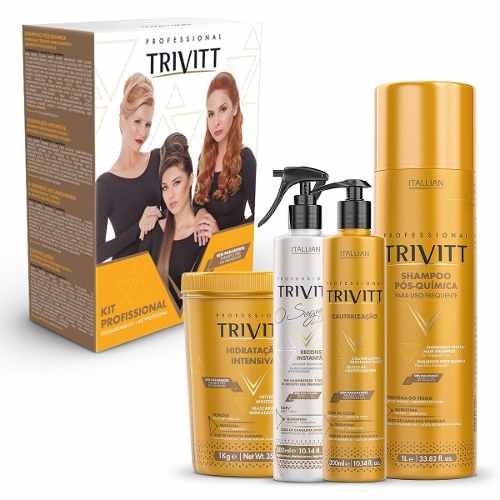 Itallian Trivitt Kit Profissional Hidratação E Cauterização