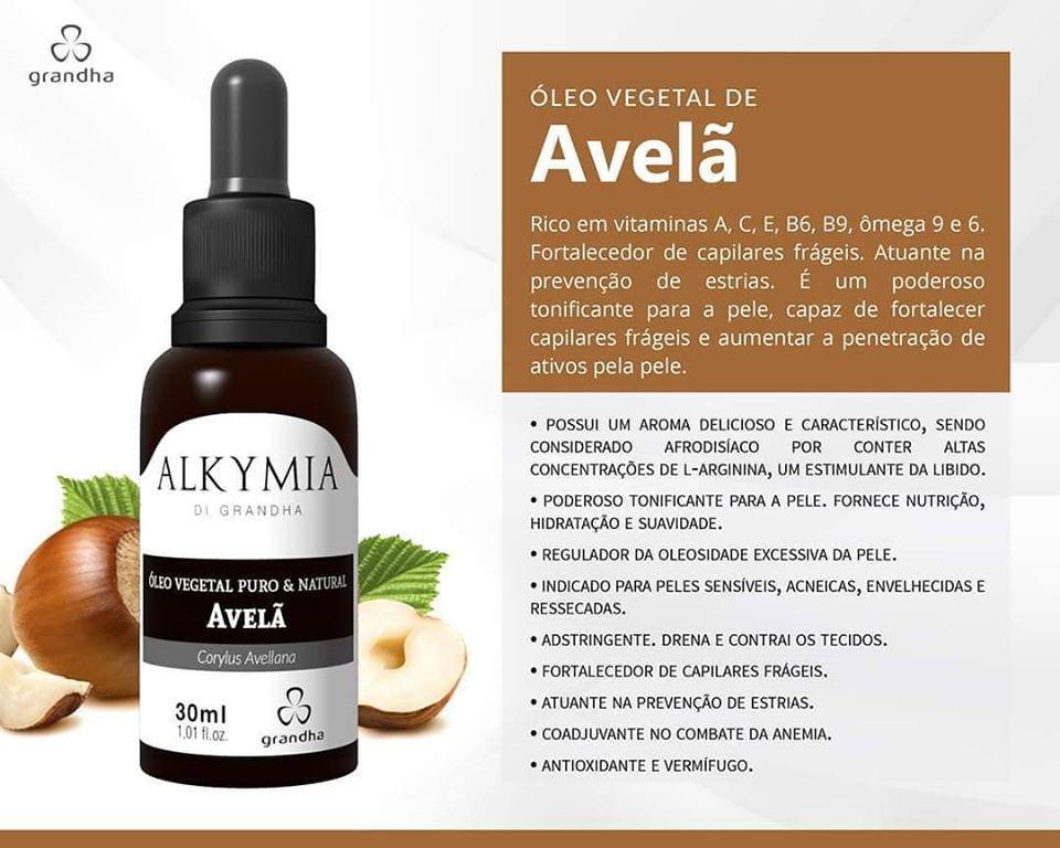 Grandha Alkymia Óleo Vegetal De Avelã 100% Puro 30ml