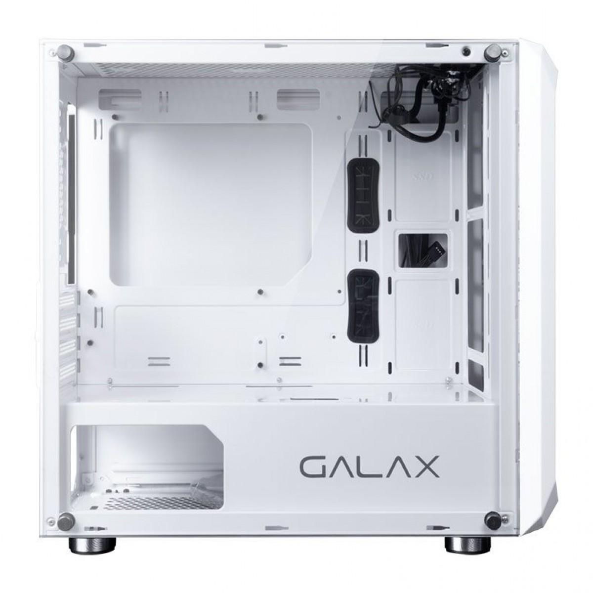 Gabinete Gamer Galax Nebulosa, Mid Tower, Vidro Temperado, White, Sem Fonte, Sem Fan, GX700 WH