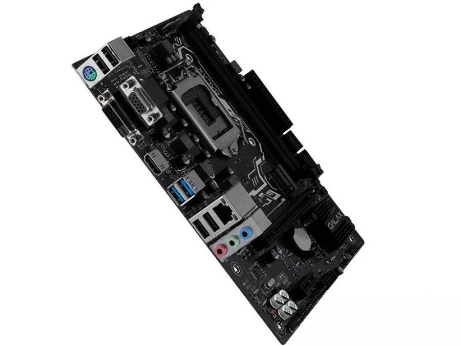 Placa Mae 1200 Galax H410M Plus 2666mhz VGA DVI HDMI - IH410MAGCHY1CW