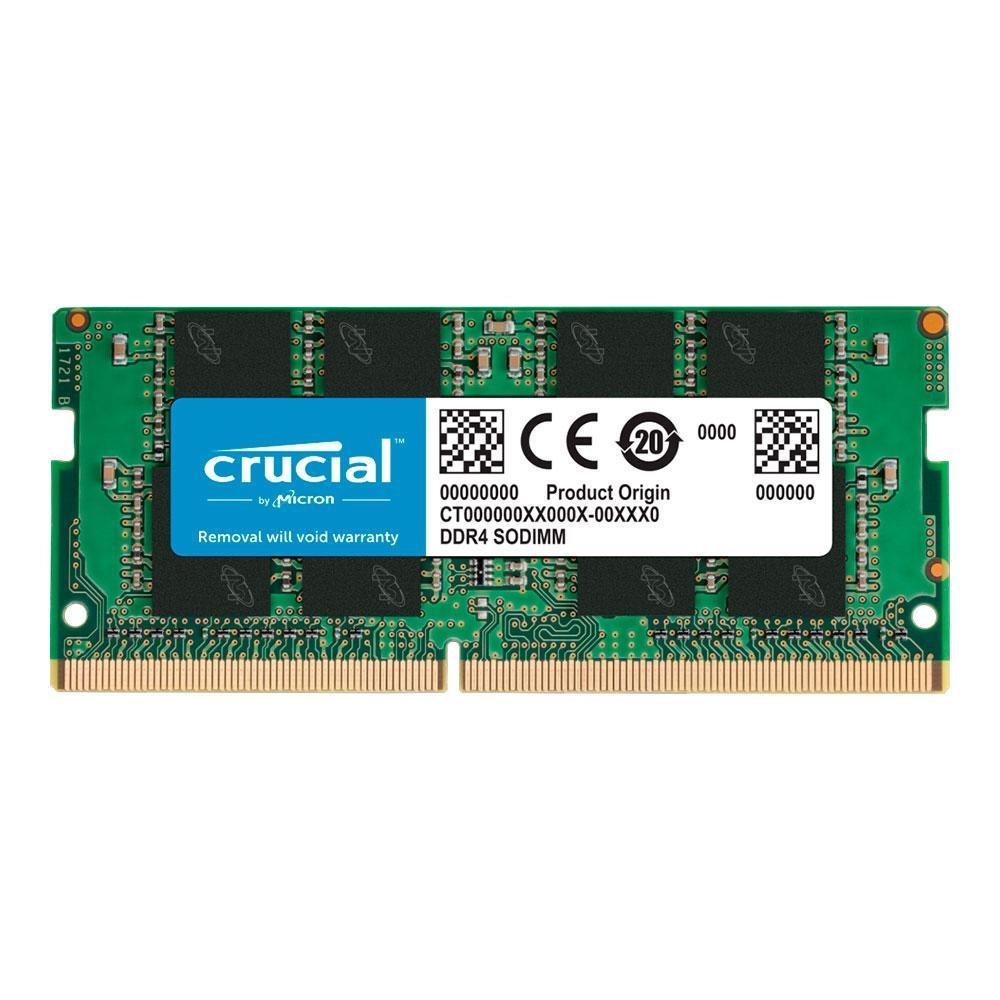 Memória para Notebook Crucial, 16GB, DDR4-2666, SODIMM 1.2V CL19 - CT16G4SFRA266