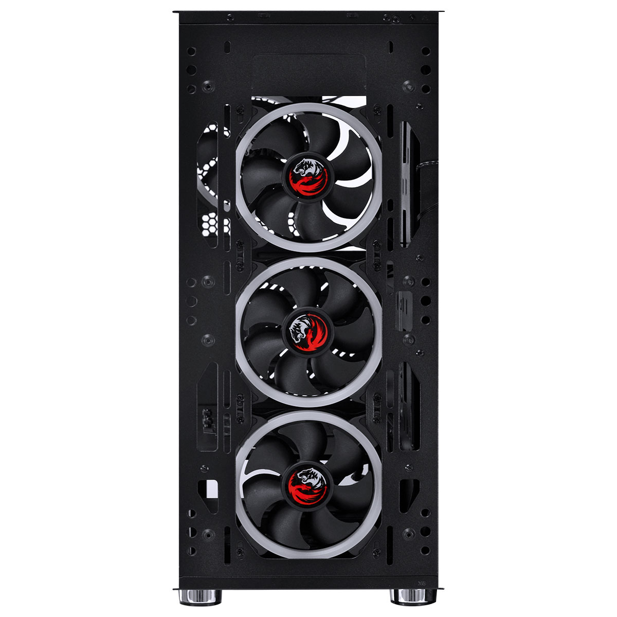 Gabinete Gamer PCYES Dimension RGB, 4x Fan, Lateral em Vidro Temperado, Preto - DIPTRGB1FCV (33876)
