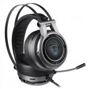 Headset Motospeed H18, LED Azul, 7.1, USB, Drivers 50mm, Cinza - FMSHS0083CIZ