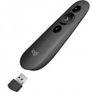 Apresentador Logitech R500 Sem Fio, Bluetooth, com Laser Point Vermelho 20m Cinza - 910-005333
