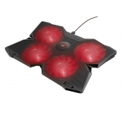 "Base Para Notebook Trust GXT 220, LED Vermelho, 17.3"" - 20817"