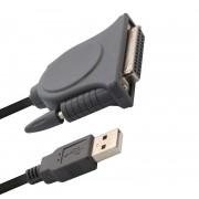 Cabo Conversor Comtac USB para Paralelo DB25 - 9018