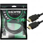 Cabo HDMI PIX, 3 Metros, 2.0, 4K, 19 Pinos - 018-2223