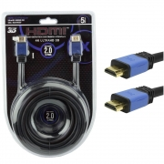 Cabo HDMI PIX, 5 Metros, 2.0, 4K, Ultra HD, 19 Pinos, com Filtro - 018-0520