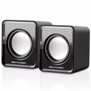 Caixa de Som Multilaser 2.0 Mini, 3w Rms, Preta - SP144