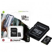 Cartão de Memória 128GB Classe 10 Kingston, Micro SD, 100R/85W, Canvas Select Plus - SDCS2/128GB