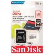 Cartão de Memória Sandisk 128 GB Micro SDXC Classe 10 Ultra - SDSQUNR-128G-GN3MA