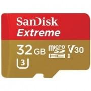 Cartão SanDisk Micro SD 32GB Extreme Classe 10 Vel. até 100MB/s a Prova de Água p/ Câmera de ação 4K e Full HD - SDSQXAF-032G-GN6AA