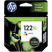 Cartucho HP 122XL Colorido Original (CH564HB) Para HP DeskJet 1000, 2050, 3050, 2000