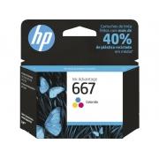 Cartucho HP 667 Colorido 3YM78AB