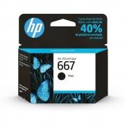 Cartucho HP 667 Preto 3YM79AB HP