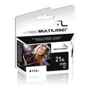 Cartucho Multilaser Hp 21Xl Preto - CO021