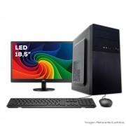 Computador, 10º geração, intel I3-10100 3.6GHZ, 4GB DDR4, HD 1TB, Monitor Led 18,5, Teclado e Mouse, Estabilizador 300va