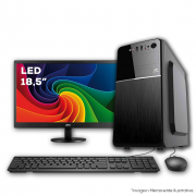 Computador, 10º geração, intel I3-10100F 3.6GHZ, 4GB DDR4, HD 1TB, Placa de Video GT-710 1GB, Monitor Led 18,5, Teclado e Mouse, Estabilizador 300va
