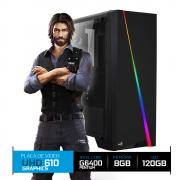 Computador Gamer, Free Fire, Intel 10º Geração, Pentium G6400 4.0Ghz, 8GB DDR4, HD 1TB
