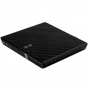 Drive ASUS Gravador Externo Stylish Diamond de CD/DVD e Leitor de CD/DVD 8X s/ Base - SDRW-08D2S-U/BLK/G/AS