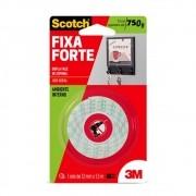 Fita Dupla Face de Espuma 12mm x 1,5 Metros Unitário Fixa Forte - Scotch 3M - CM0538-HM(A)