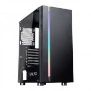 Gabinete Gamer Galax Quasar RGB, Mid Tower, Vidro Temperado, Black, Sem Fonte, Sem Fan, GX600