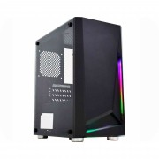 Gabinete Gamer K-Mex Hawk II Rainbow, Painel Led RGB, Sem Fonte e Fan - CG-01KT