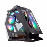 Gabinete Gamer K-Mex Micro Ranger, Lateral em Vidro, Preto, Sem Fonte, Sem Fan - CG-01PQ