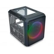 Gabinete Gamer K-Mex Microcraft V, ATX, 1 Fan RGB, Preto - CG-05RC