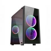 Gabinete Gamer K-Mex Narnia II, LED, Preto, Sem Fonte, 2 Fans - Narnia 2 (CG-02RA)