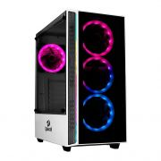 Gabinete Gamer Redragon Grapple, Mid Tower, S-Fan, Vidro Temperado, White, S-fonte, GC-607-WH