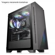 Gabinete Gamer Thermaltake H330 TG, Mid Tower, Vidro Temperado, Black, ATX, Sem Fonte, Com 1 Fan -  CA-1R8-00M1WN-00