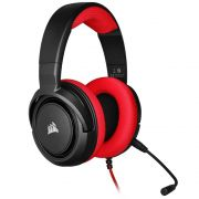 Headset Gamer Corsair HS35 Stereo, PC, PS4, Xbox, Drivers 50mm, Vermelho - CA-9011198-NA