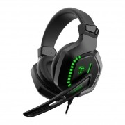 Headset Gamer T-Dagger Eiger, 3.5mm + USB, Green - T-RGH208