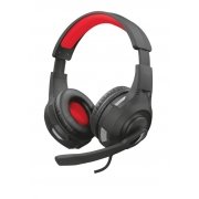 Headset Gamer Trust GXT 307 Ravu, Drivers 40mm, Preto/Vermelho - 22450