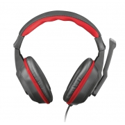 Headset Gamer Trust Ziva, Preto/Vermelho - 21953
