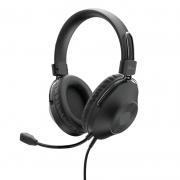 Headset Trust Zaru, Preto, USB - 24187