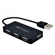 Hub USB C3Tech, 4 Portas, USB 2.0 - HU-220BK