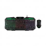 Kit Teclado e Mouse Gamer XZONE, 7 Cores de Iluminação, 3200 DPI - GTC-01