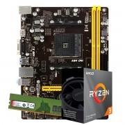 Kit Upgrade AMD Ryzen 3 3100 3.9Ghz, Placa Mãe Biostar A320MH DDR4, 8GB DDR4