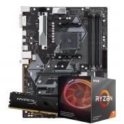 Kit Upgrade AMD Ryzen 7 3700X 3.6Ghz, Placa Mãe Gigabyte B450M DS3H, Memoria 16GB DDR4