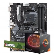 Kit Upgrade AMD Ryzen 7 3700X 3.6Ghz, Placa Mãe Gigabyte B450M S2H, 8GB DDR4