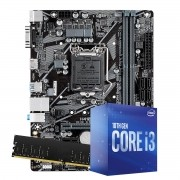 Kit Upgrade intel 10º geração core i3-10100 3.6ghz ,Placa Mãe Pcware H410 LGA 1200, 8GB DDR4