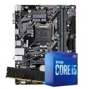 Kit Upgrade intel 10º geração Core i5-10400 2.9ghz ,Placa Mãe Pcware H410 LGA 1200, 8GB DDR4