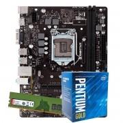 Kit Upgrade intel 10º geração Pentium Gold G6400 4.0ghz ,Placa Mãe Gigabyte H410M H LGA 1200, 8GB DDR4