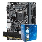 Kit Upgrade intel 10º geração Pentium Gold G6400 4.0ghz ,Placa Mãe Pcware H410 LGA 1200, 8GB DDR4